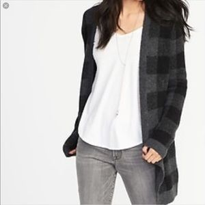Old Navy Buffalo Check Cardigan Sweater XS